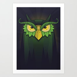 Royal Owl Art Print