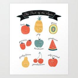 Fruit of the Spirit, Galatians 5:22-23 Art Print