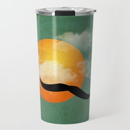 mustaches in the sky Travel Mug