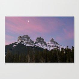 Three Sisters Sunrise Canvas Print