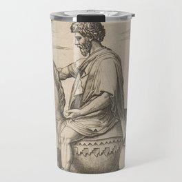 Vintage Emperor Marcus Aurelius Illustration (1527) Travel Mug