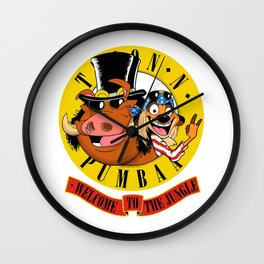 pumba welcome to the jungle Wall Clock