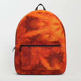 Mandala orange - Flower of Life Backpack