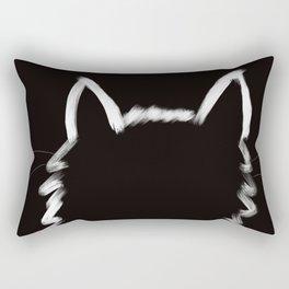 Black Cat In The Light Rectangular Pillow