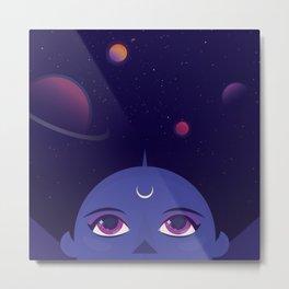 Cosmic Woman Metal Print