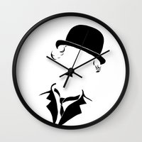 charlie Wall Clocks featuring Charlie by Amanda Pays