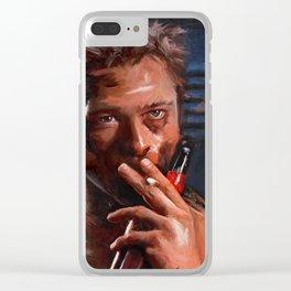 Tyler Durden - Leading Project Mayhem Clear iPhone Case