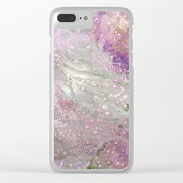 Pink Batik Abstract Acrylic Painting Clear iPhone Case