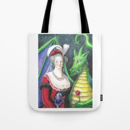 Marie Antoinette and the Dragon Tote Bag