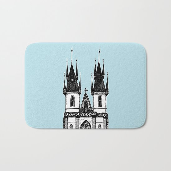 Tyn Church - Prague Bath Mat