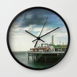 Brighton Pier, Brighton Hove UK Wall Clock