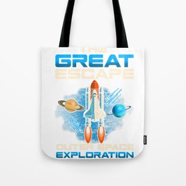 The Great Escape Outer Space Exploration Rocket Tote Bag