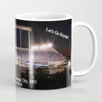 kansas city Mugs featuring Kauffman Stadium, Kansas City by Xhoshannah