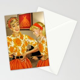 Daughter and Her Narcissistic Mother Stationery Cards