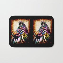 Zebra in Color Bath Mat
