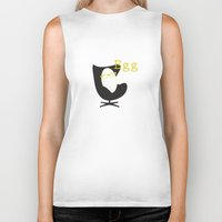egg Biker Tanks featuring Egg by bri musser