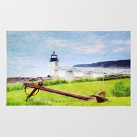 maine Area & Throw Rugs featuring Beautiful Maine by ThePhotoGuyDarren