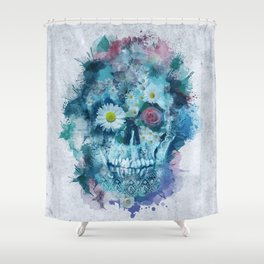floral skull 2 Shower Curtain