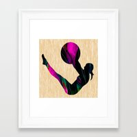 fitness Framed Art Prints featuring Fitness by marvinblaine