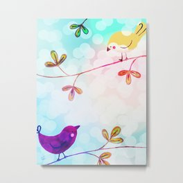 Sweet Tweets 2 Metal Print