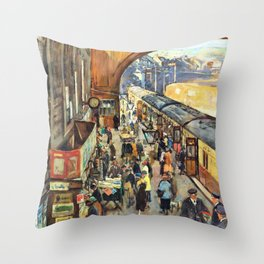 The Terminus, Penzance Station - Stanhope Alexander Forbes Throw Pillow