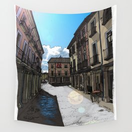 Calle Mayor (color) Wall Tapestry