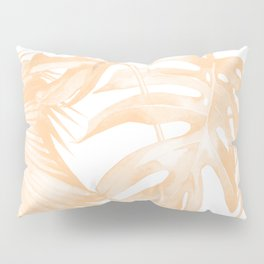 Island Vacation Hibiscus Palm Coral Pillow Sham