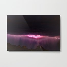 Monsoon in the Superstitions Metal Print