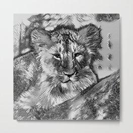 AnimalArtBW_Lion_20171003_by_JAMColorsSpecial Metal Print
