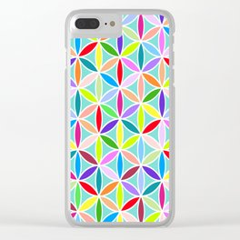 Flower of Life Large Pattern – Multicoloured Clear iPhone Case