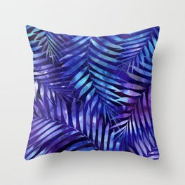 Violet jungle vibes Throw Pillow