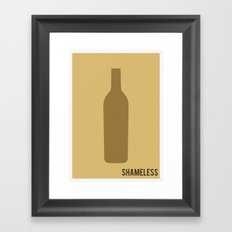 Shameless - Minimalist Framed Art Print
