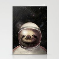 sloth Stationery Cards featuring Space Sloth  by Eric Fan