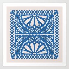 Fiesta de Flores Blue Art Print