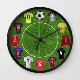 Football soccer best players clock Wall Clock