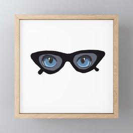 Behind her Look Framed Mini Art Print