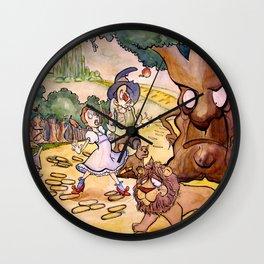 Apple Trees Wall Clock