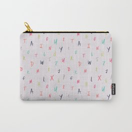 Bright Letters Carry-All Pouch
