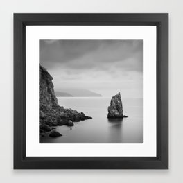 Sail Rock Framed Art Print