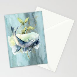 Watercolor Under Sea Collection: Seal Stationery Cards