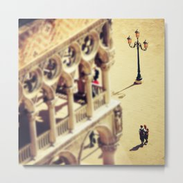 Lovers Venice Italy Travel Photography Metal Print