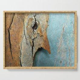Eucalyptus tree bark texture 10 Serving Tray