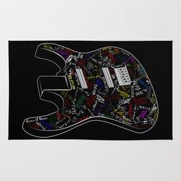 Guitar of fame: Drawing version Rug
