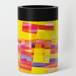 yellow pixel storm Can Cooler