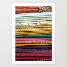 indian sarees Art Print