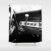 cars Shower Curtains featuring Olddie Cars by Maioriz Home