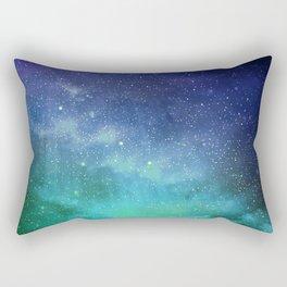 Turquoise Space Rectangular Pillow