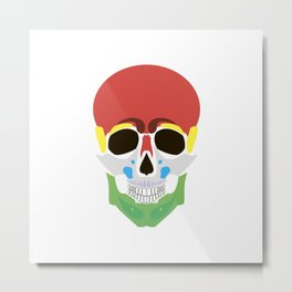 Rasta Skull Metal Print
