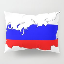 Russia Map with Russian Flag Pillow Sham