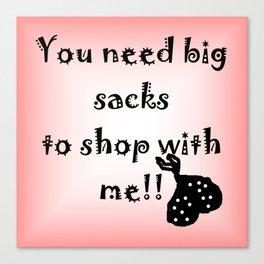 Big Shopping Sacks Canvas Print